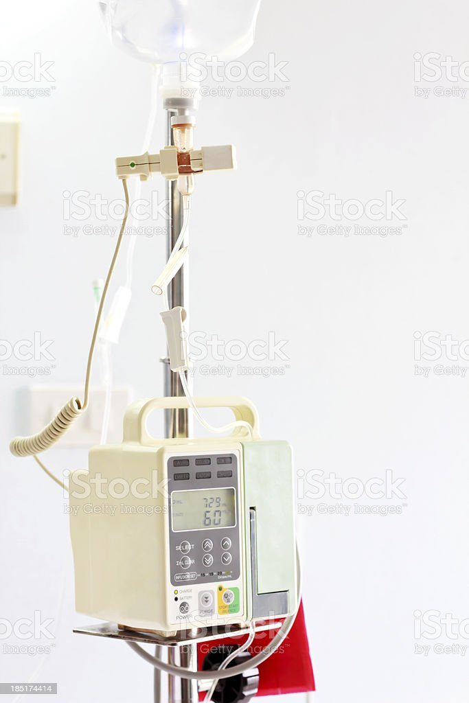 Intravenous IV Drip Machine royalty-free stock photo