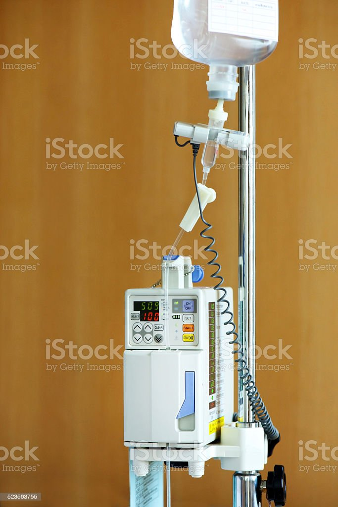 Intravenous IV drip stock photo