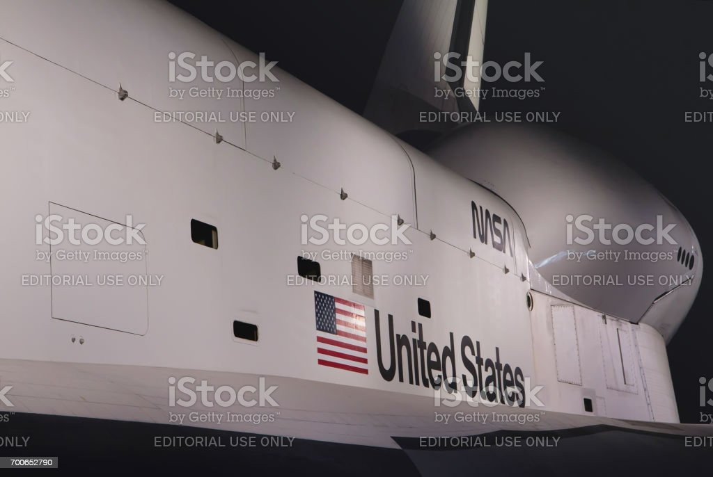 Intrepid Sea, Air & Space Museum successfully transported space shuttle Enterprise stock photo