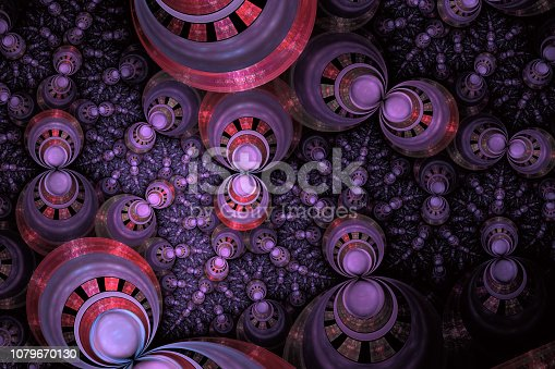 629533394 istock photo Intricate abstract fractal on black background 1079670130