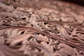 Intricate carved wood