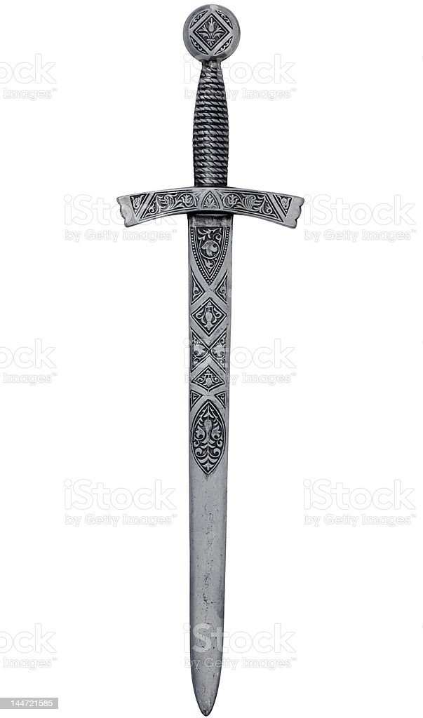 Intricate dagger with clipping path royalty-free stock photo