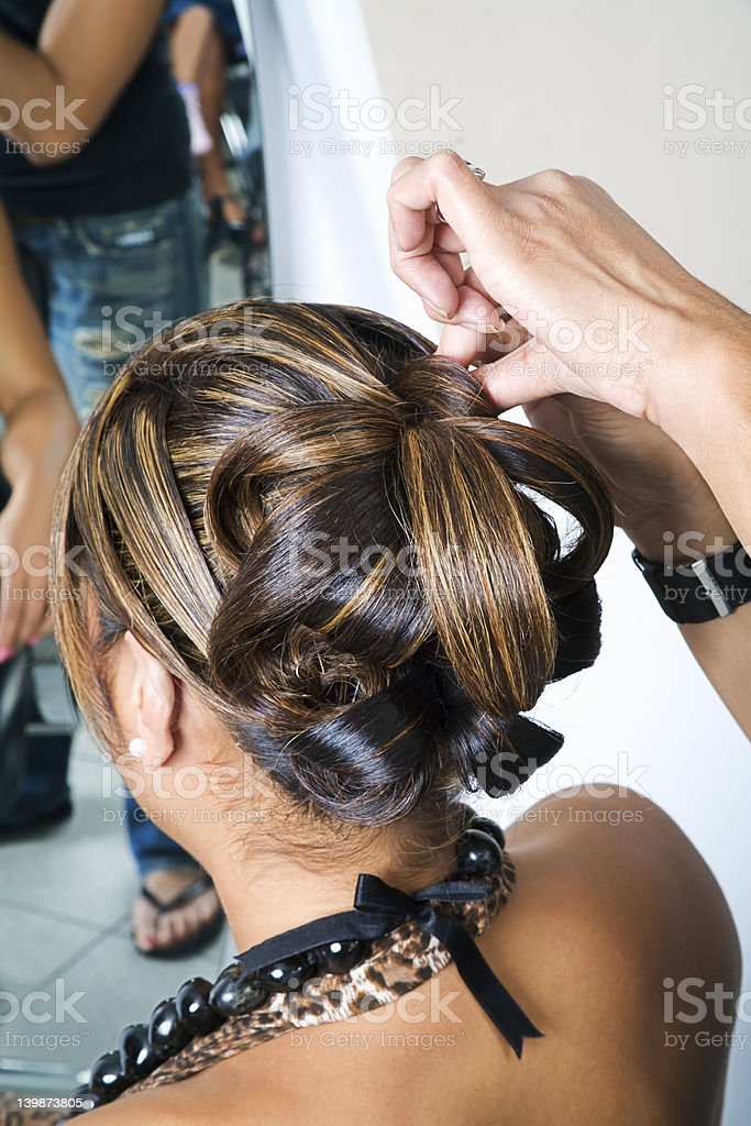 Intricate hair do royalty-free stock photo