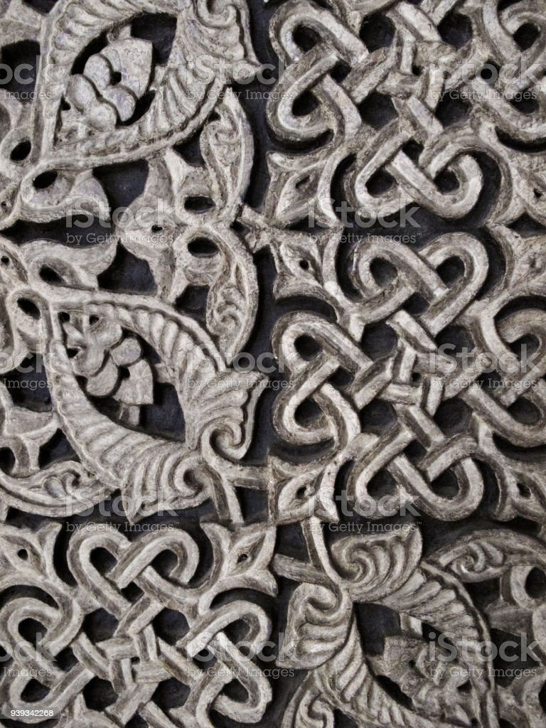 Intricate Knot Pattern Background stock photo