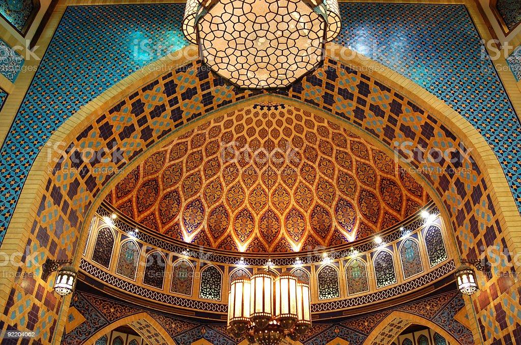 Intricate mosaic pattern in a Dubai building stock photo
