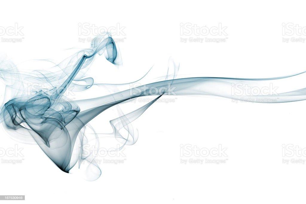 Intricate patterns in blue smoke royalty-free stock photo