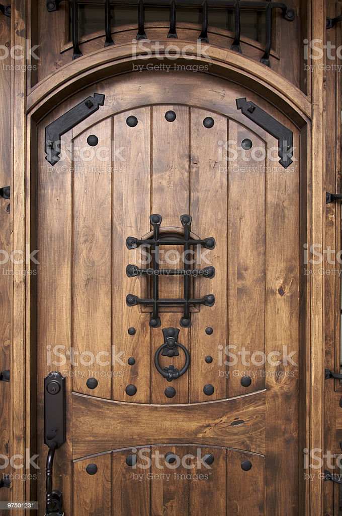 Intricate Wooden Doorway royalty-free stock photo