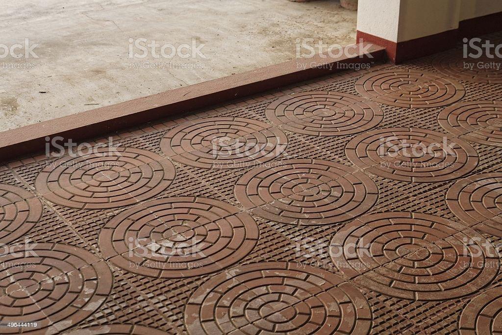 La fantasia elaborata terracota veranda pavimento in piastrelle