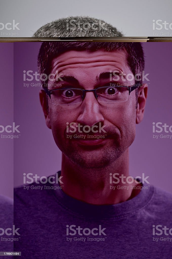 Intrigued Expression Portrait royalty-free stock photo