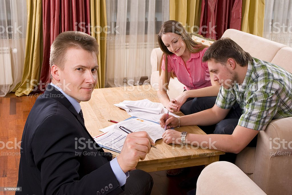 Intrigued Official agent royalty-free stock photo