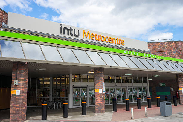 Intu MetroCentre - Green Mall entrance stock photo