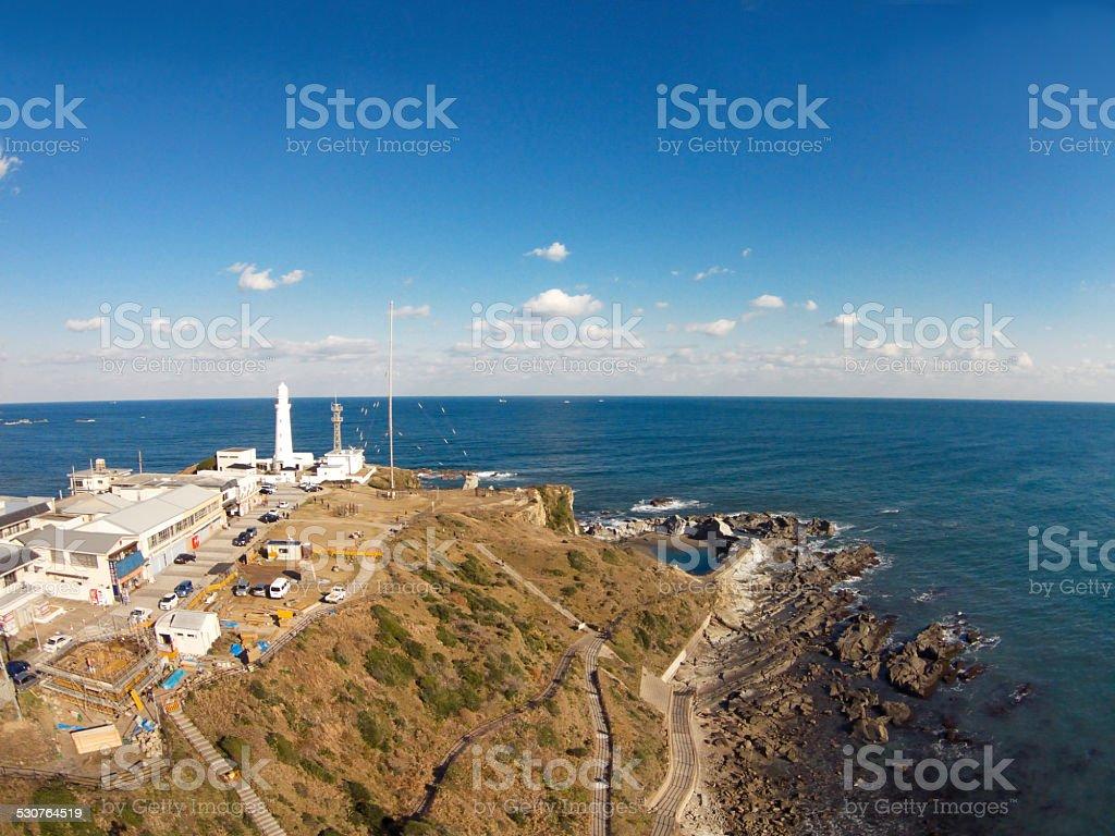 Inubosaki lighthouse stock photo