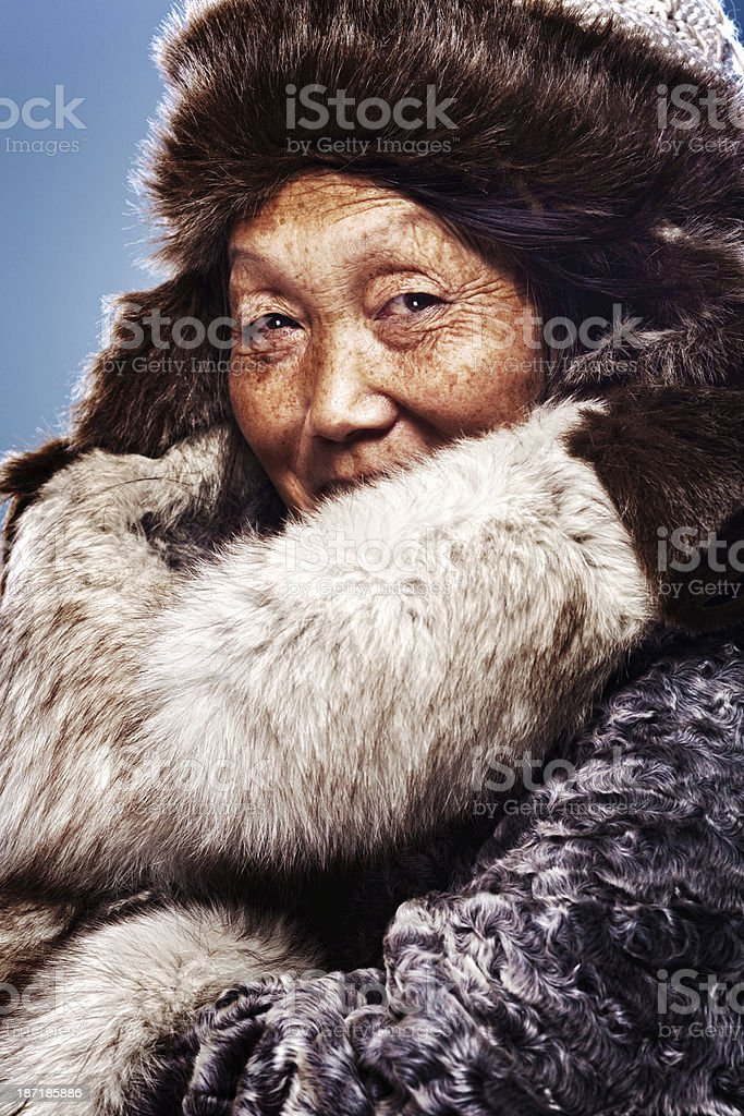 Inuit Woman stock photo