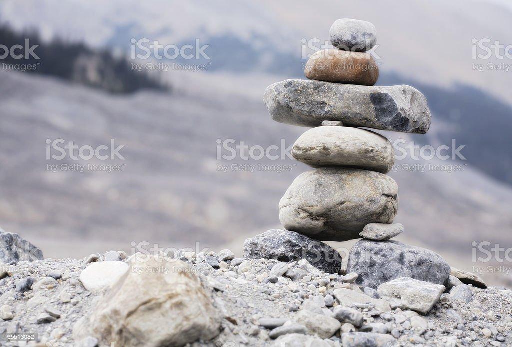 Inukchuk royalty-free stock photo