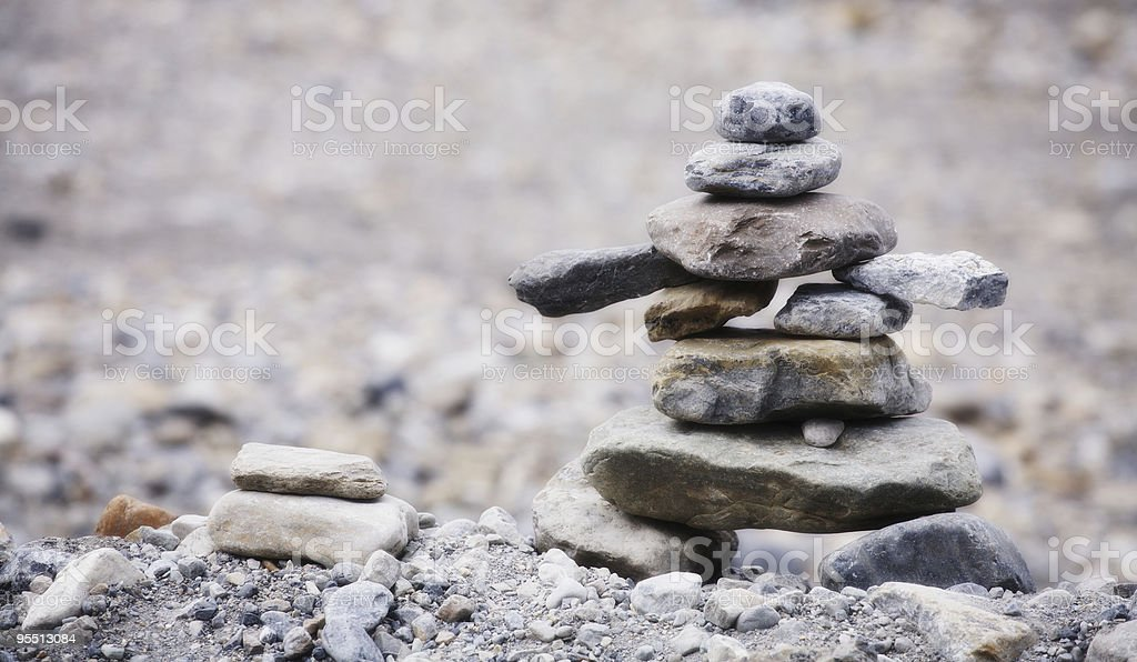 Inukchuk royalty-free stock photo