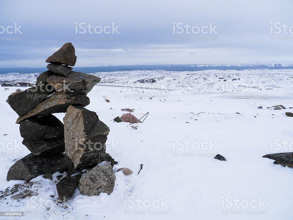 Inukshuk stock photo
