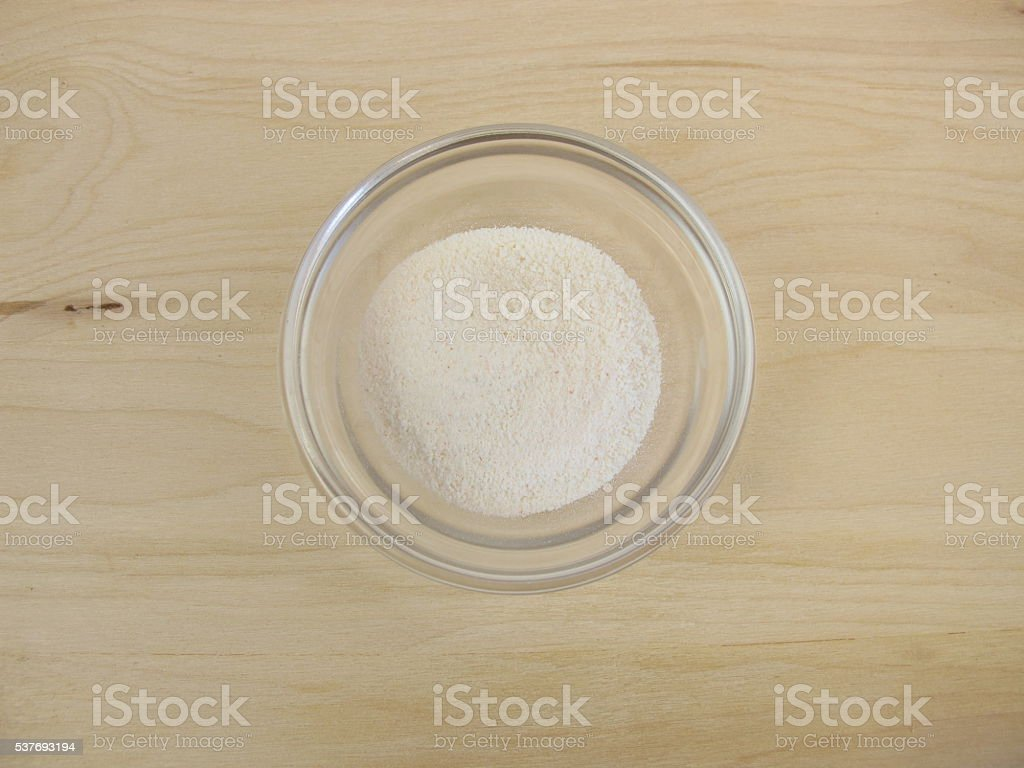 Inulin powder stock photo