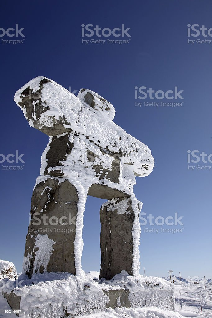 Inunnguaq in Blue royalty-free stock photo