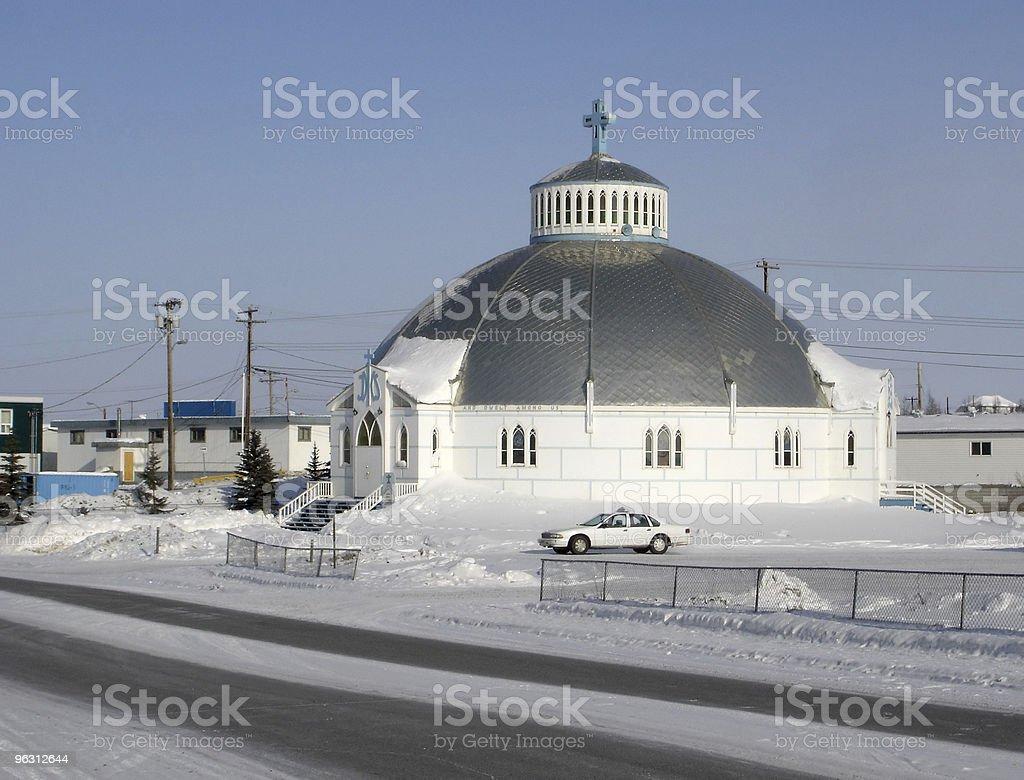 Inuvik Igloo Church stock photo