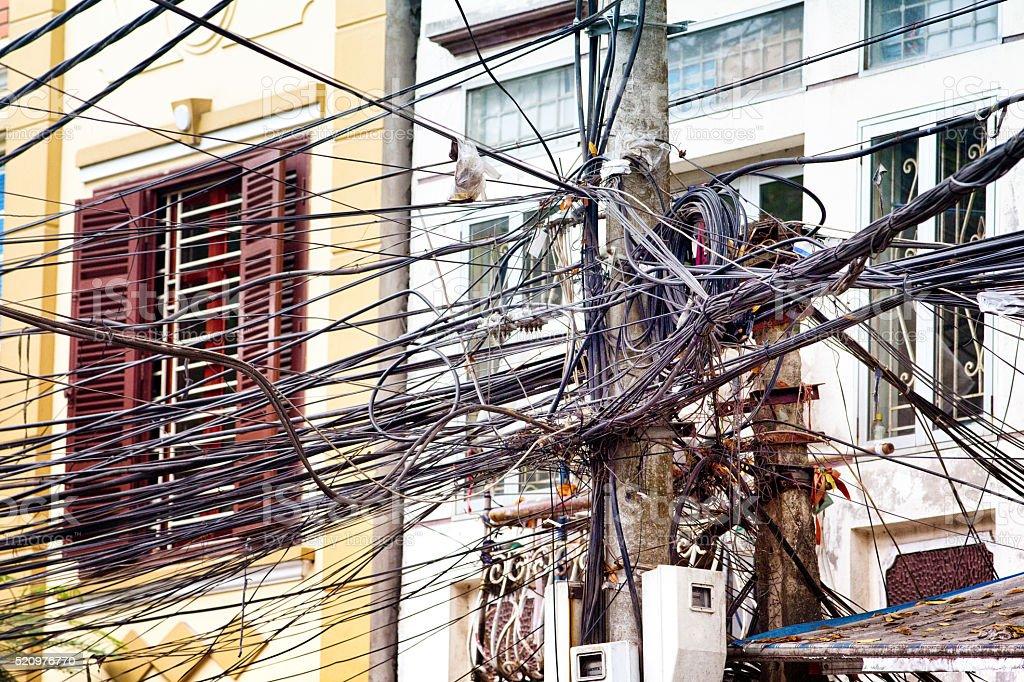 Innovative Elektrische Verkabelung In Hanoi Vietnam Straße Stock ...