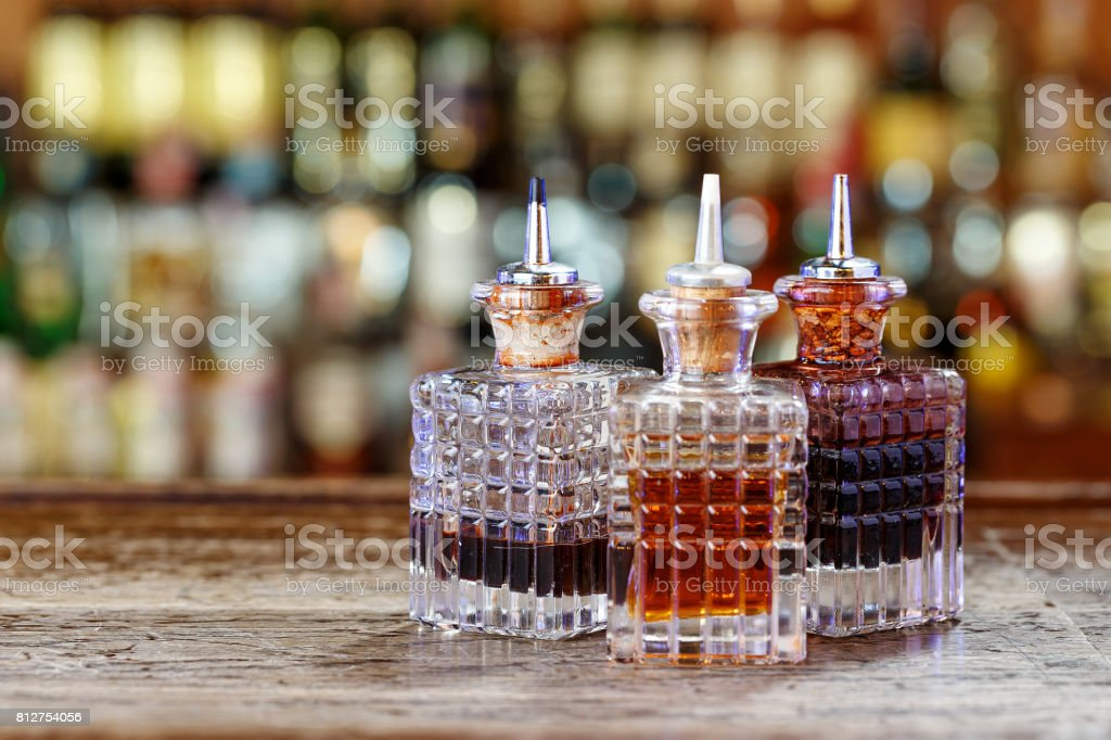 Inventory of the bartender stock photo