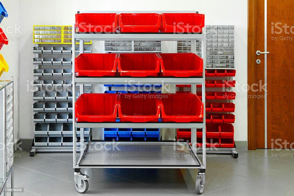 Inventory shelf stock photo