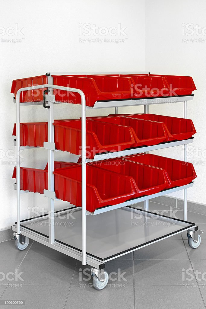Inventory trolley stock photo