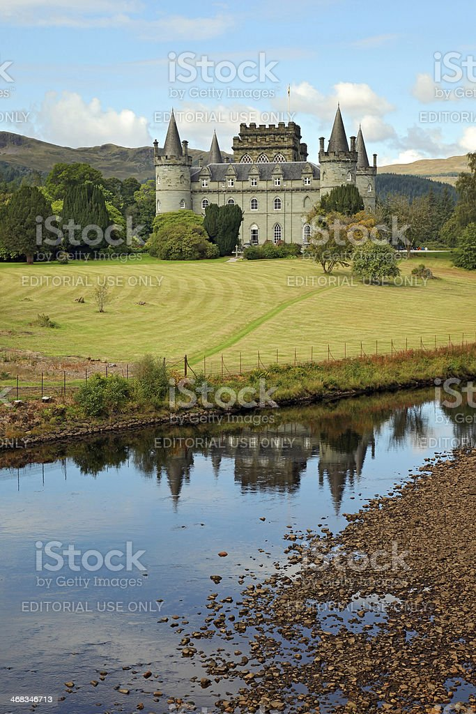 Inverary Castle - Scotland royalty-free stock photo