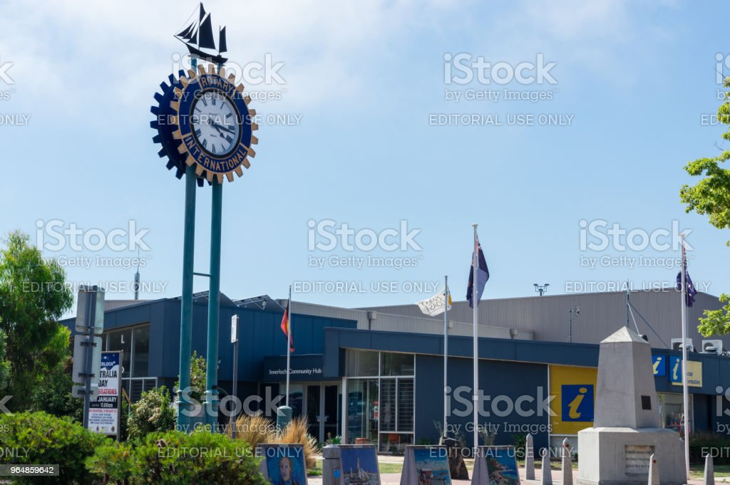 Inverloch Community Hub in the small seaside town of Inverloch in South Gippsland. royalty-free stock photo