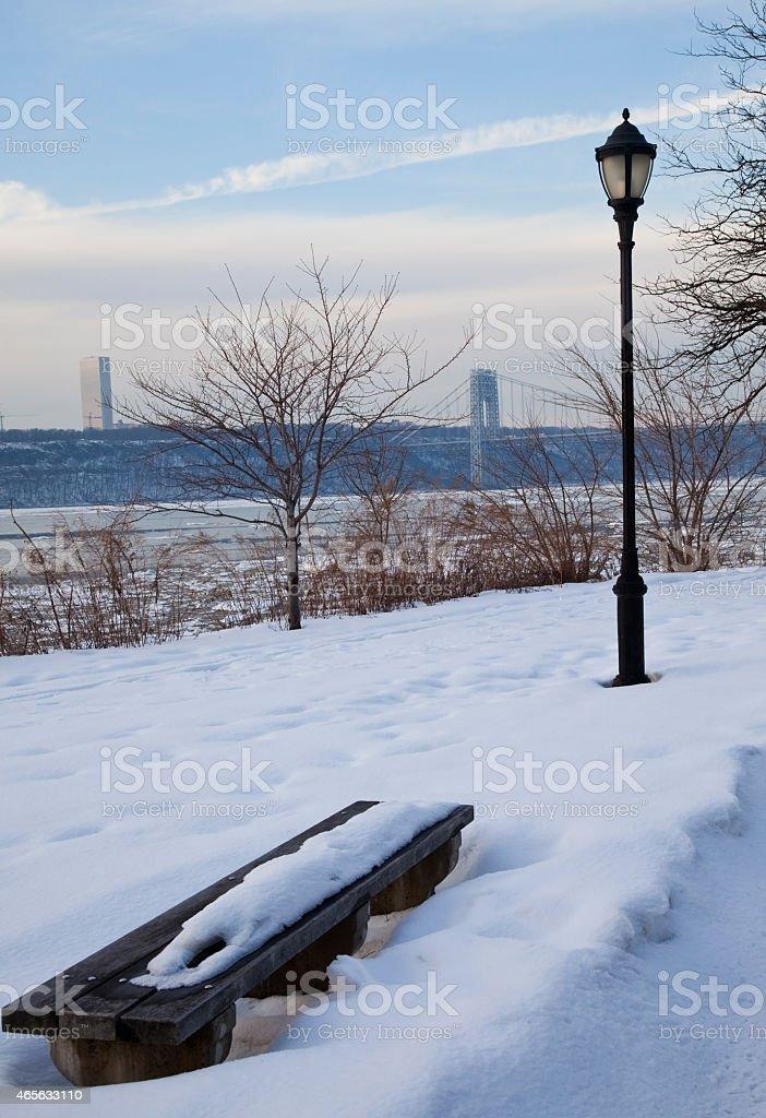 Invernal Postcard stock photo