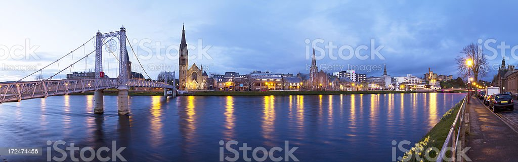 Inverness at Twilight stock photo