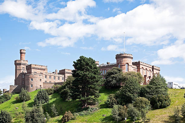 Inverness Castle Inverness Castle photographed on an idyllic summer day. inverness scotland stock pictures, royalty-free photos & images
