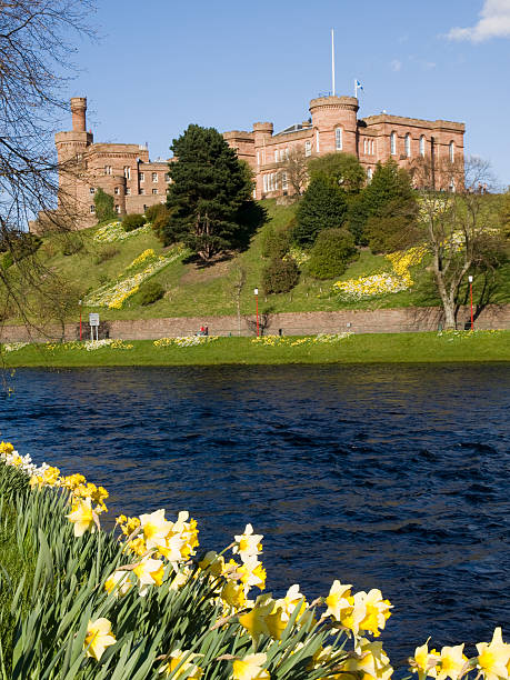 Inverness Castle, Scotland View of Inverness Castle and the River Ness from Riverside WalkOther images from Inverness: inverness scotland stock pictures, royalty-free photos & images