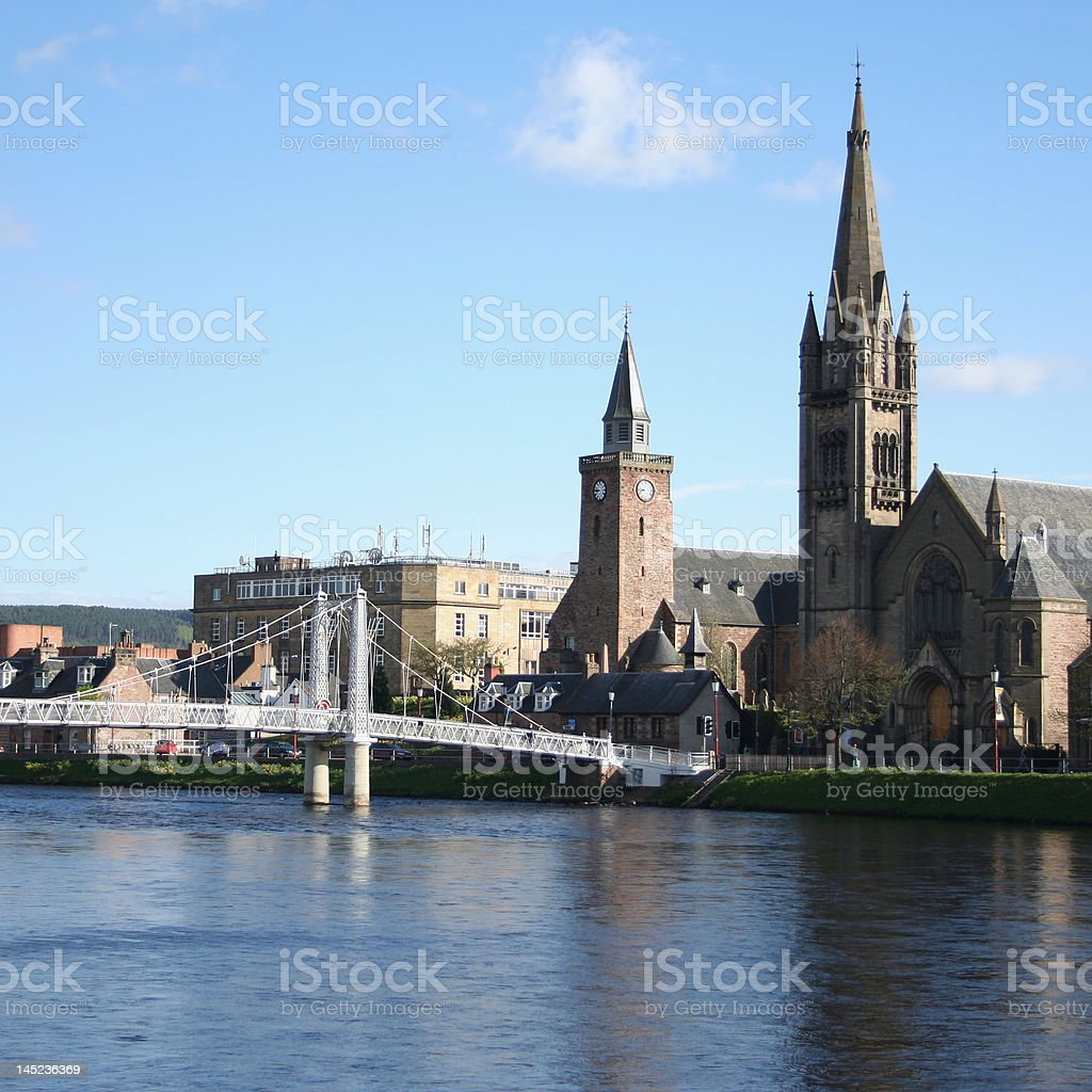 Inverness in the spring stock photo
