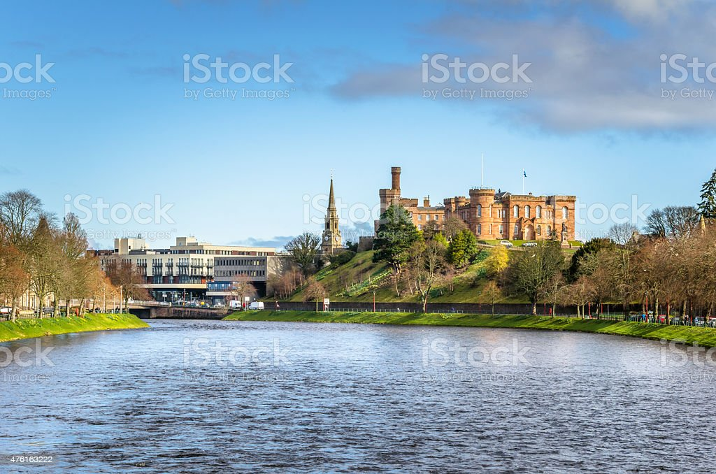 Inverness Skyline on a Winter Morning stock photo