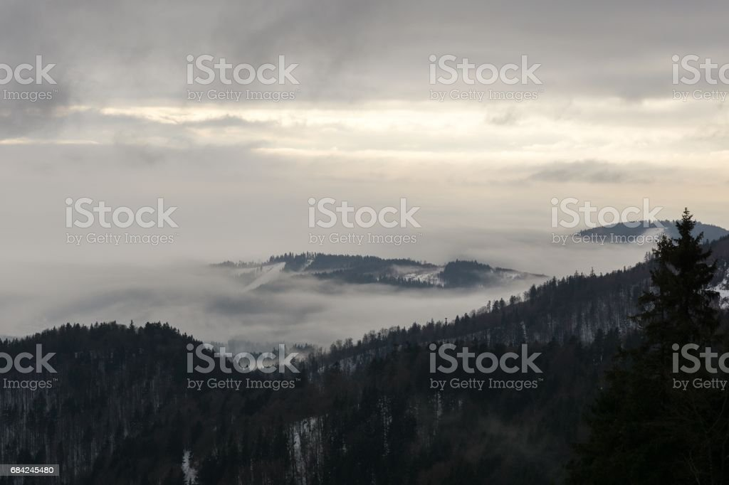 Inversion from mountains. Slovakia royalty-free stock photo
