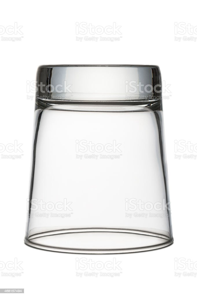 inverted glass stock photo