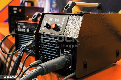 Inverter welding machine. Equipment for welding metals in a protective inert gas environment.