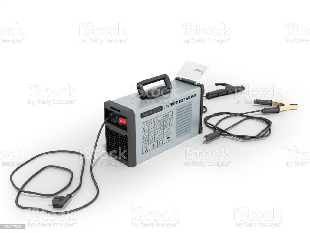 Inverter Welding Machine With Electronic Amp Adjustment Table An Electrical Wire Pipe And White Background Aluminum Cable Copper Manufacturing Power Supply
