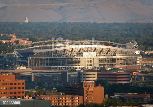 Denver, USA - August 24, 2008: A view of Invesco Field (also known as Mile High Stadium) in downtown Denver Colorado.