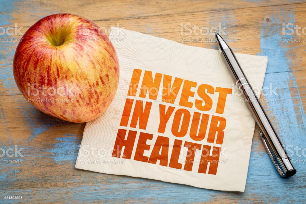 Invest in your health word abstract stock photo