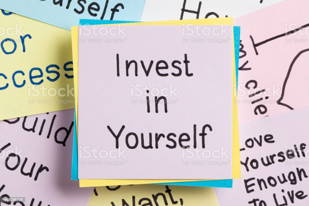 Invest in Yourself - foto de acervo