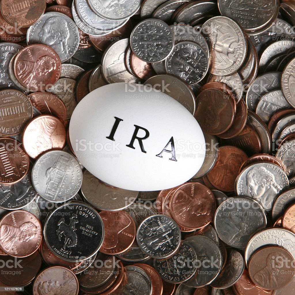 Invest into your IRA royalty-free stock photo