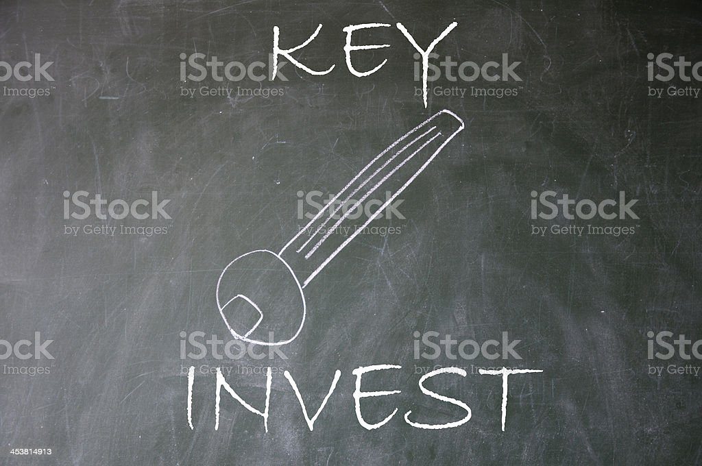 invest key royalty-free stock photo