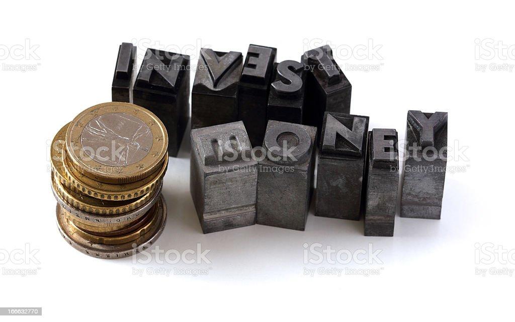 Invest money royalty-free stock photo