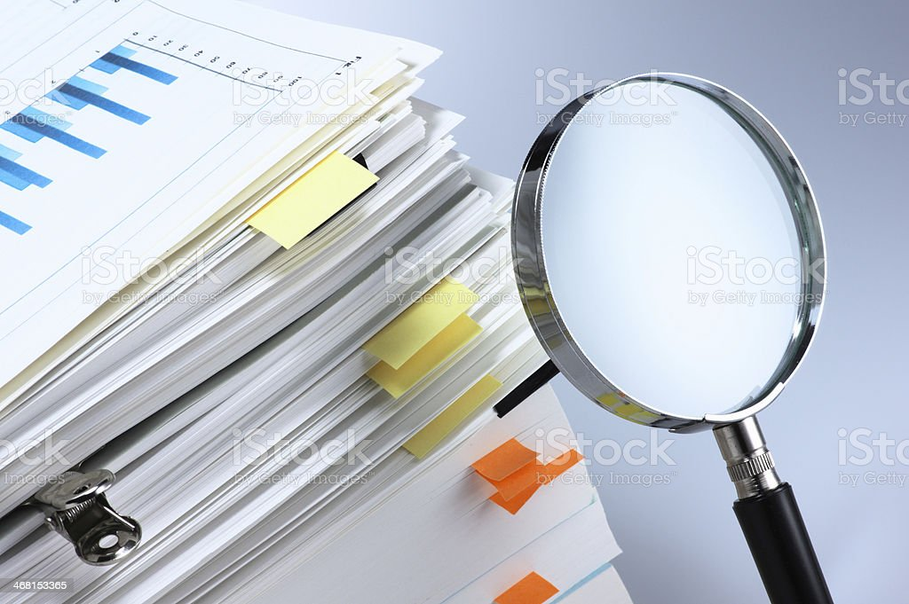 Investigate and analyze. stock photo