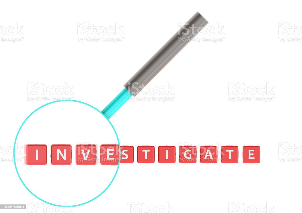 Investigate Investigate image with hi-res rendered artwork that could be used for any graphic design. Comparison Stock Photo