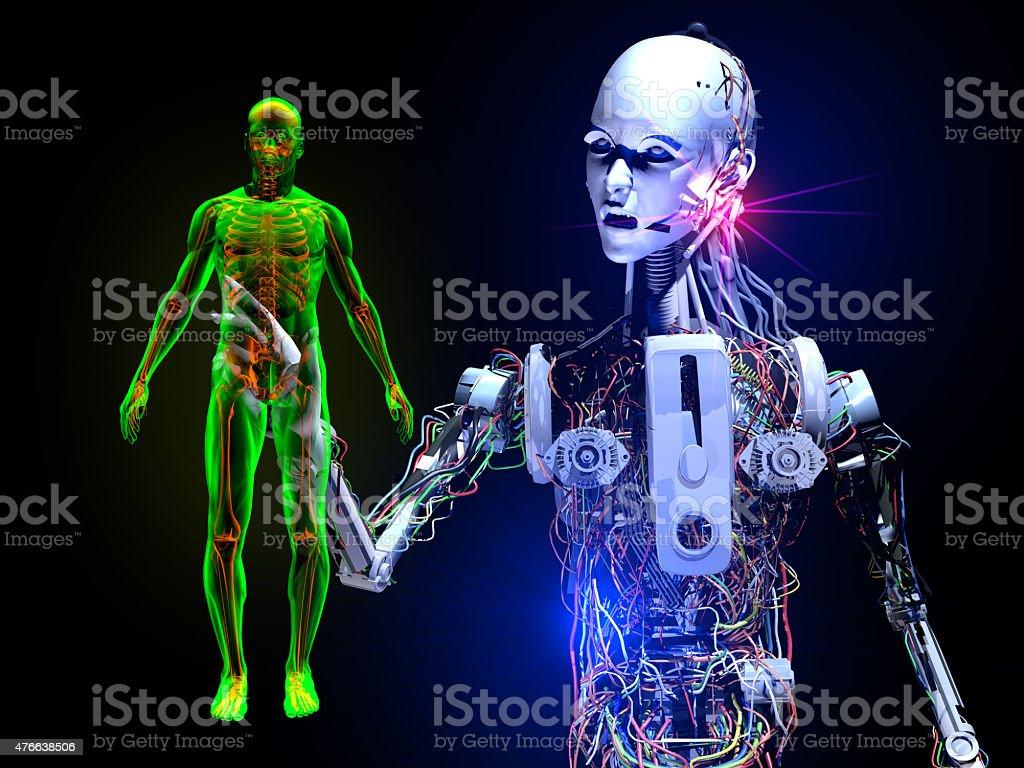 Investigate The Human Race stock photo