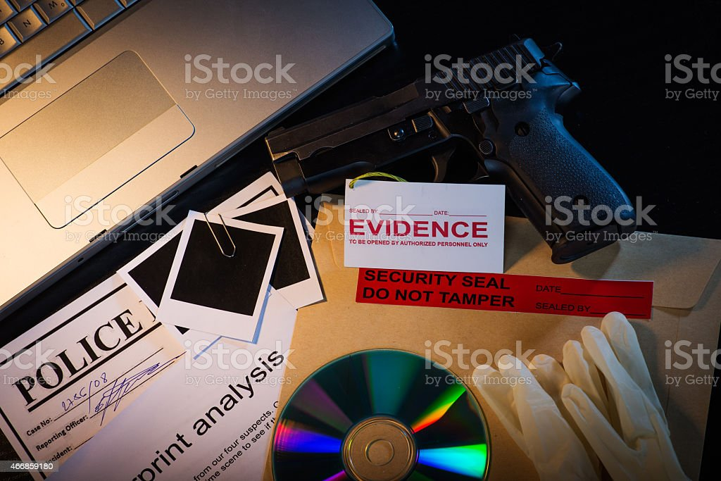 Investigation in progress stock photo