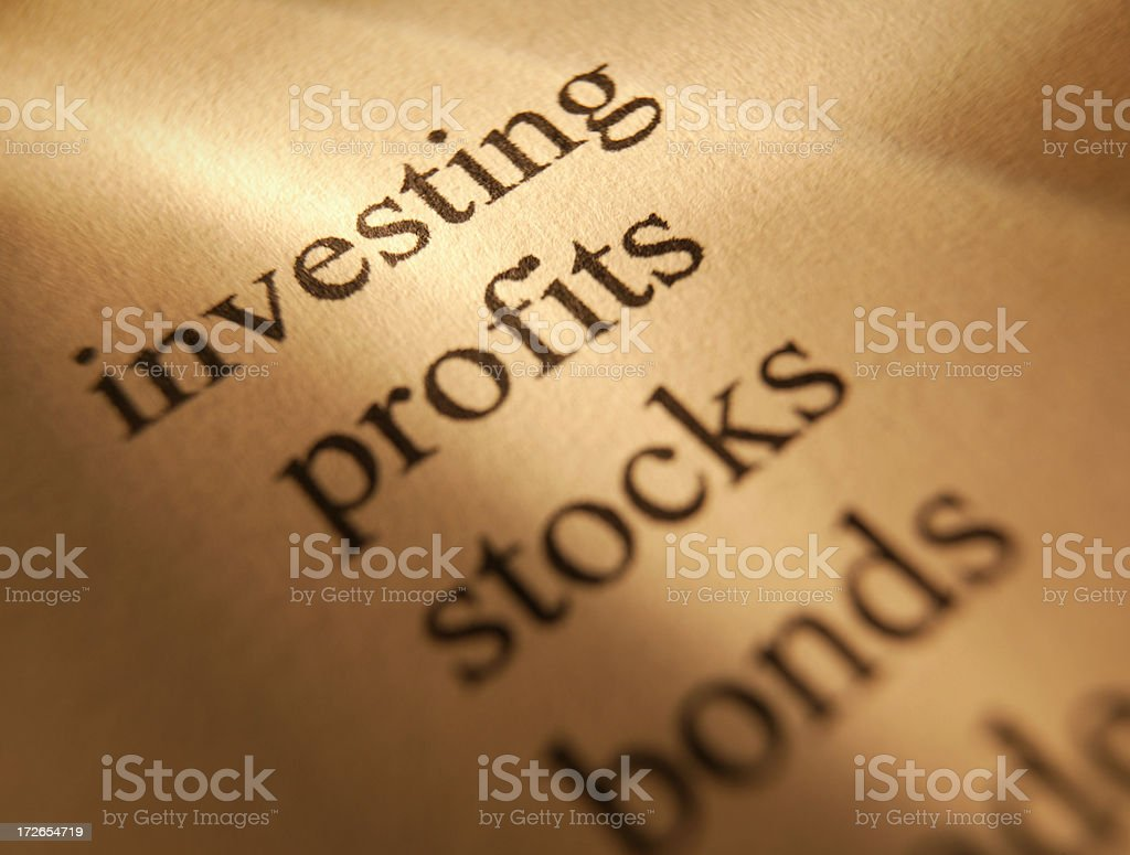 Investing 2 royalty-free stock photo